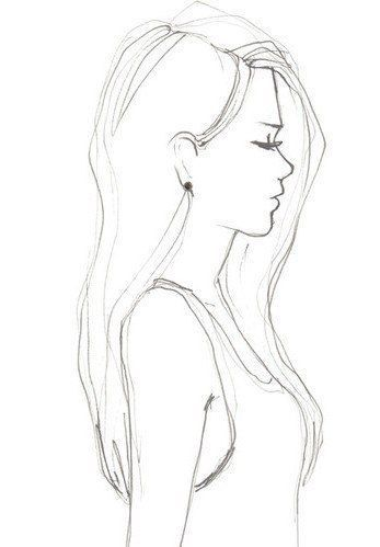 Картинки карандашом для срисовки девушки со спины легкие (12)