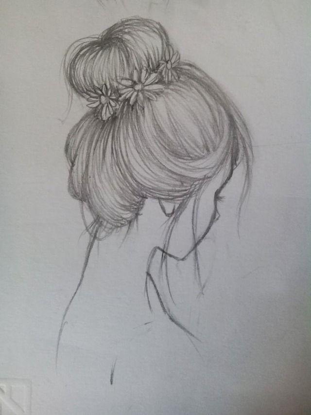Картинки девушек со спины для срисовки