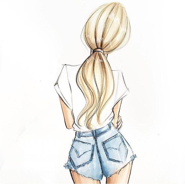 Картинки карандашом для срисовки девушки со спины легкие (15)