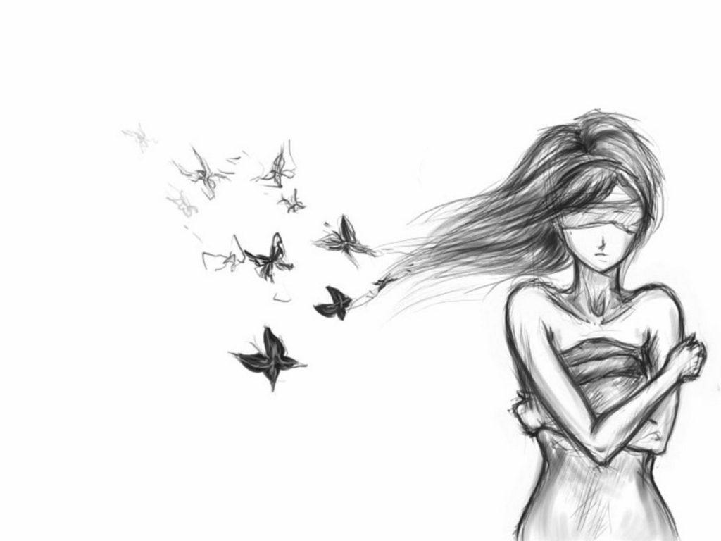Картинки карандашом для срисовки девушки со спины легкие (17)
