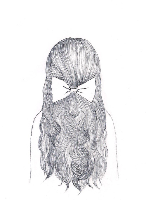 Картинки карандашом для срисовки девушки со спины легкие (19)