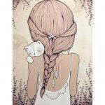 Картинки карандашом для срисовки девушки со спины легкие