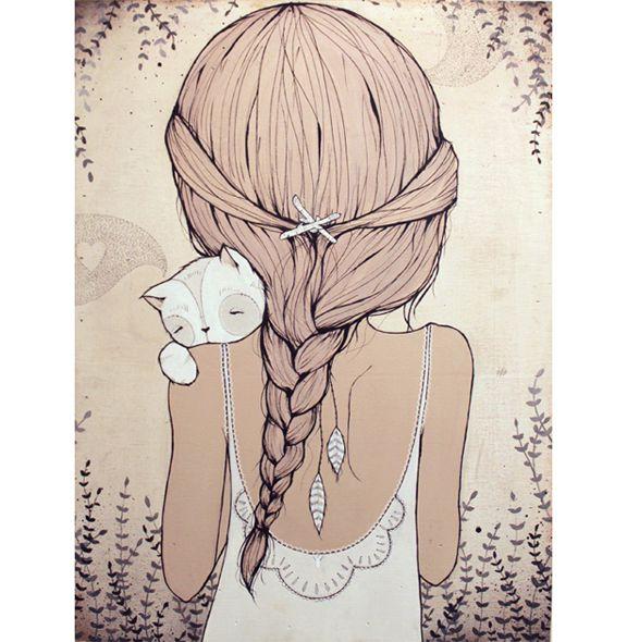 Картинки карандашом для срисовки девушки со спины легкие (23)
