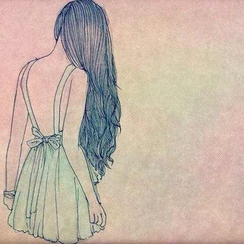 Картинки карандашом для срисовки девушки со спины легкие (25)