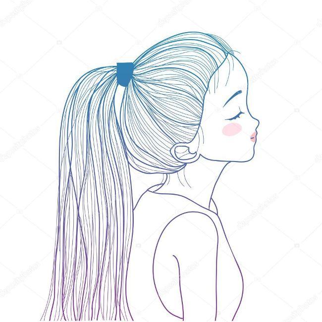 Картинки карандашом для срисовки девушки со спины легкие (26)