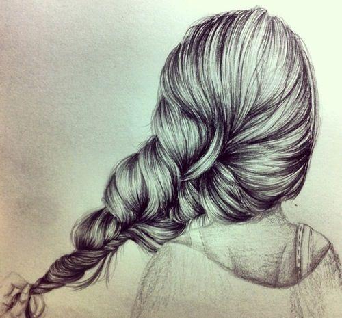 Картинки карандашом для срисовки девушки со спины легкие (3)