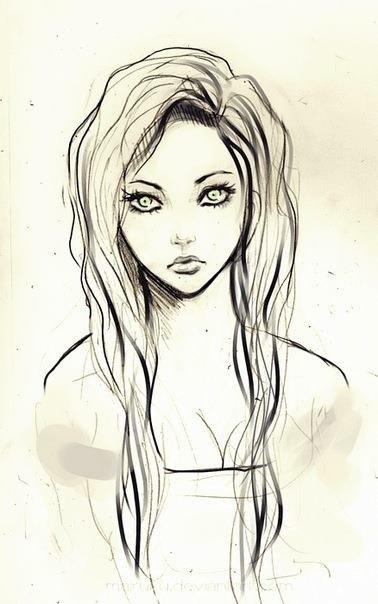 Картинки карандашом для срисовки девушки со спины легкие (5)