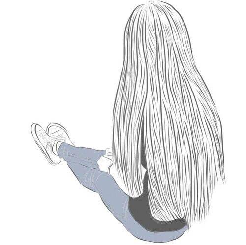 Картинки карандашом для срисовки девушки со спины легкие (8)