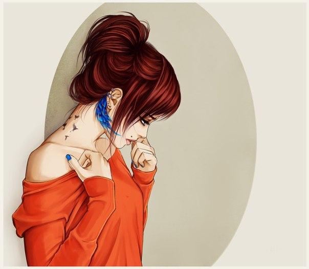 Картинки на аву в ВК для девушек крутые и нарисованные (10)