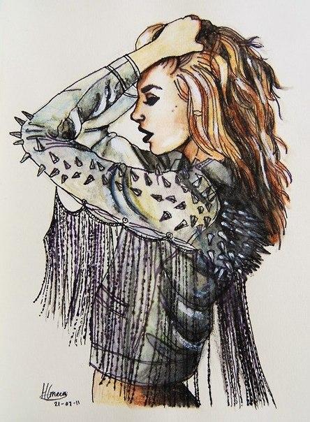 Картинки на аву в ВК для девушек крутые и нарисованные (22)