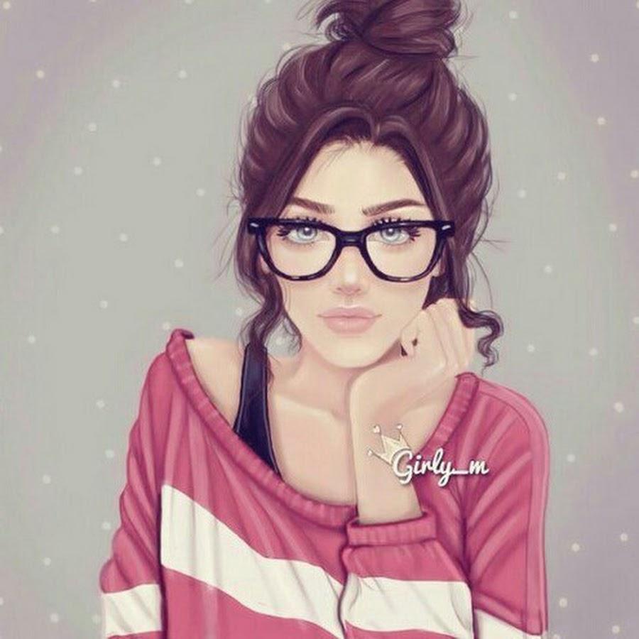 Картинки на аву в ВК для девушек крутые и нарисованные (23)