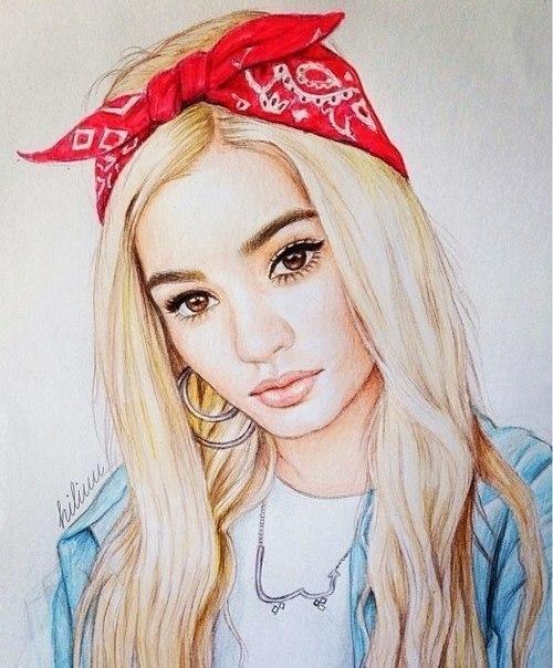 Картинки на аву в ВК для девушек крутые и нарисованные (27)