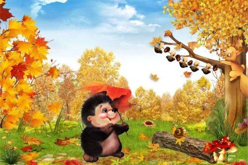 Картинки осень сентябрь, октябрь и ноябрь для детей (14)