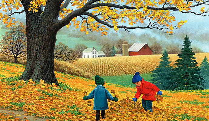 Картинки осень сентябрь, октябрь и ноябрь для детей (3)