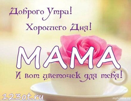 Картинки с добрым утром и хорошего дня маме (16)