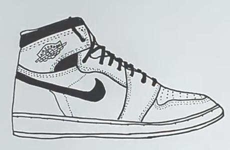 Кеды для срисовки картинки и рисунки (14)