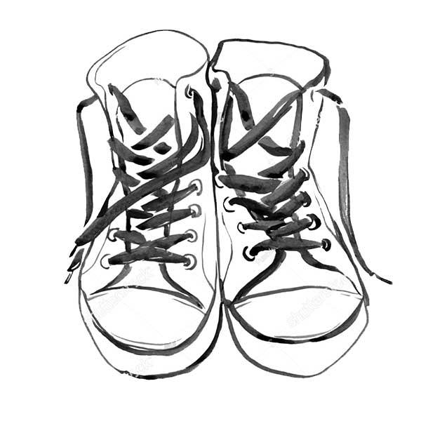 Кеды для срисовки картинки и рисунки (23)