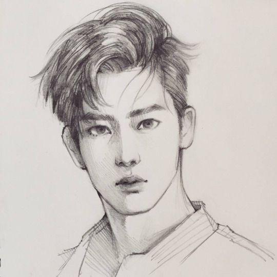 Корейские рисунки для срисовки (6)
