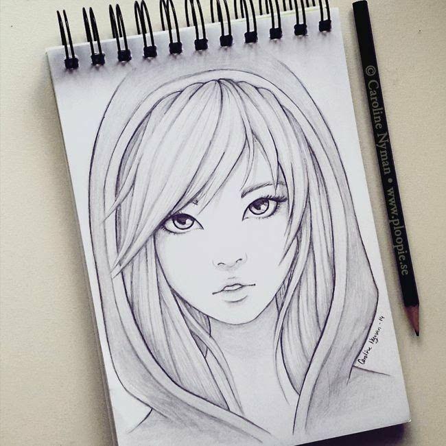 Красивые картинки для срисовки девушки арт (10)