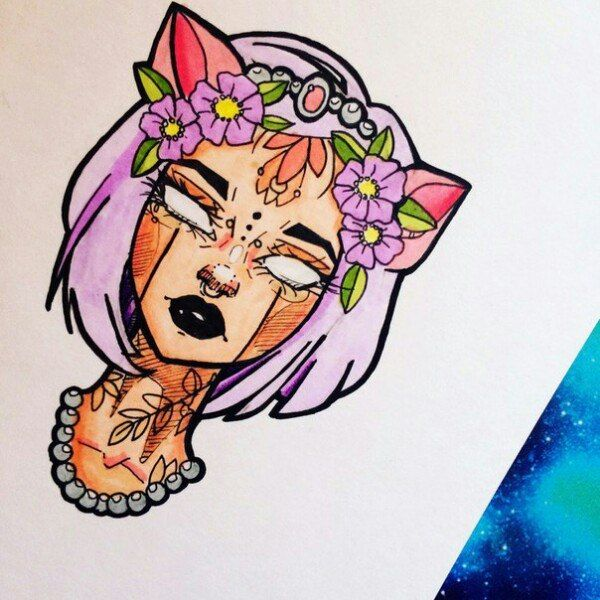 Красивые картинки для срисовки девушки арт (11)