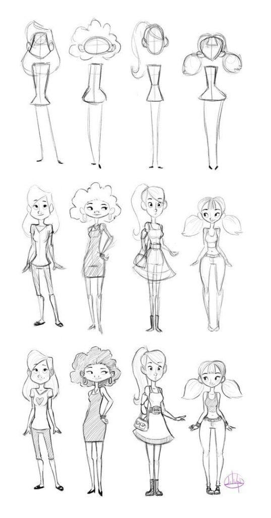 Красивые картинки для срисовки девушки арт (12)