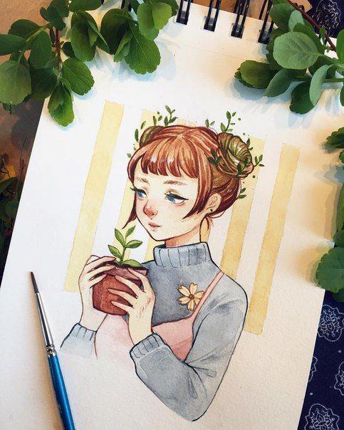Красивые картинки для срисовки девушки арт (13)