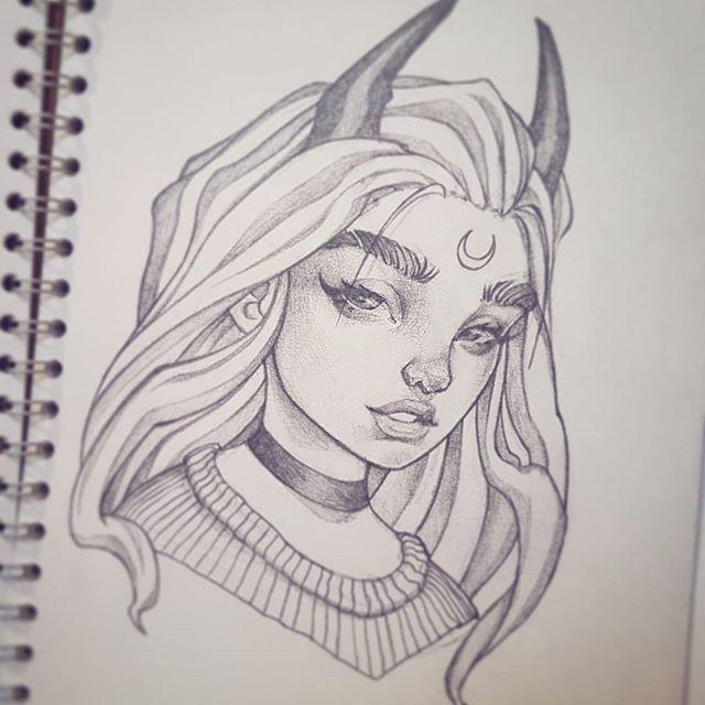 Красивые картинки для срисовки девушки арт (16)