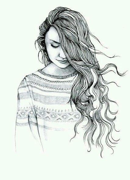 Красивые картинки для срисовки девушки арт (17)
