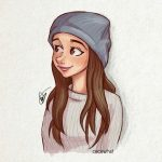 Красивые картинки для срисовки девушки арт