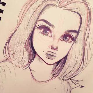 Красивые картинки для срисовки девушки арт (3)