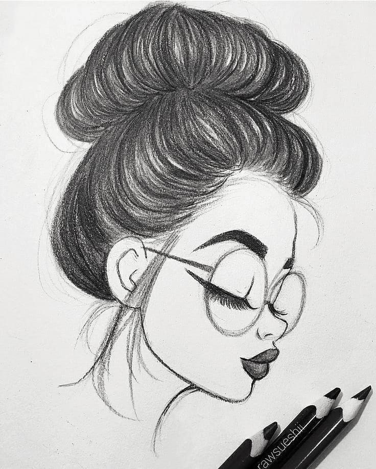 Красивые картинки для срисовки девушки арт (4)