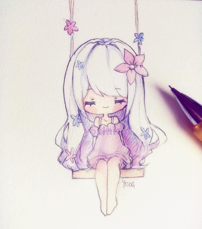 Красивые картинки для срисовки девушки арт (5)