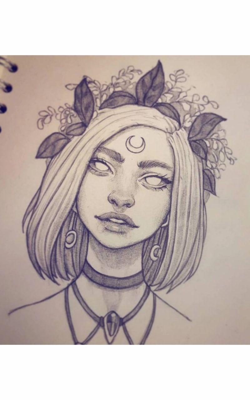 Красивые картинки для срисовки девушки арт (8)