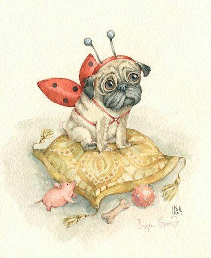 Красивые картинки про собак карандашом (11)