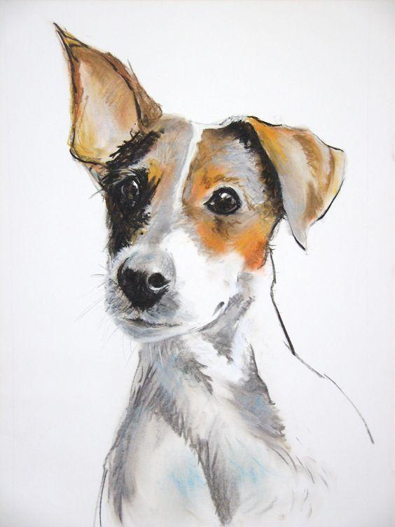 Красивые картинки про собак карандашом (8)