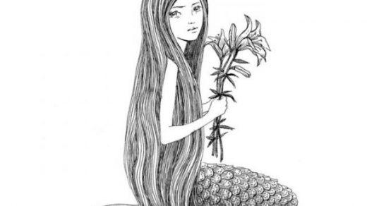 Красивые срисовки русалок для подростков (1)