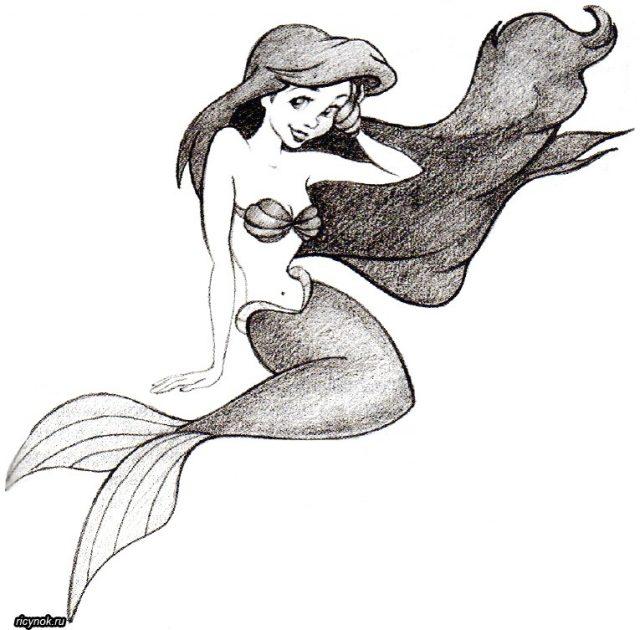 Красивые срисовки русалок для подростков (13)