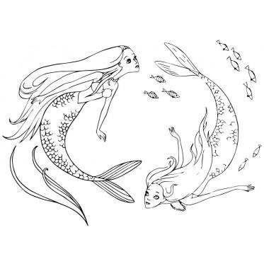 Красивые срисовки русалок для подростков (5)