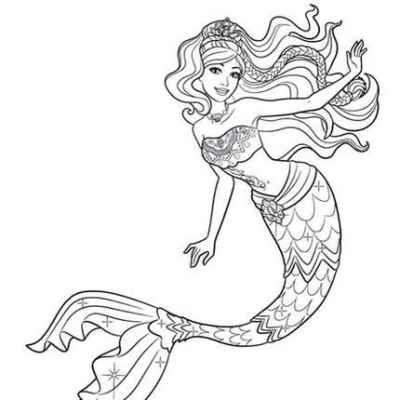 Красивые срисовки русалок для подростков (8)