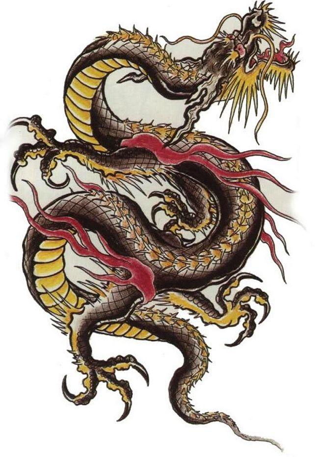Крутые картинки тату китайский дракон (1)