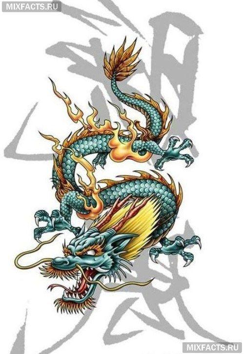 Крутые картинки тату китайский дракон (10)