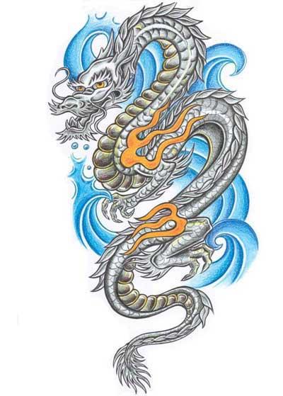 Крутые картинки тату китайский дракон (14)