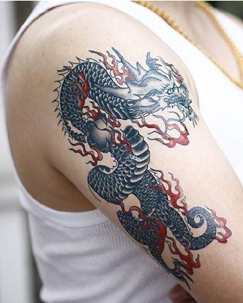 Крутые картинки тату китайский дракон (15)