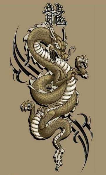 Крутые картинки тату китайский дракон (17)