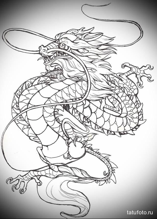 Крутые картинки тату китайский дракон (22)