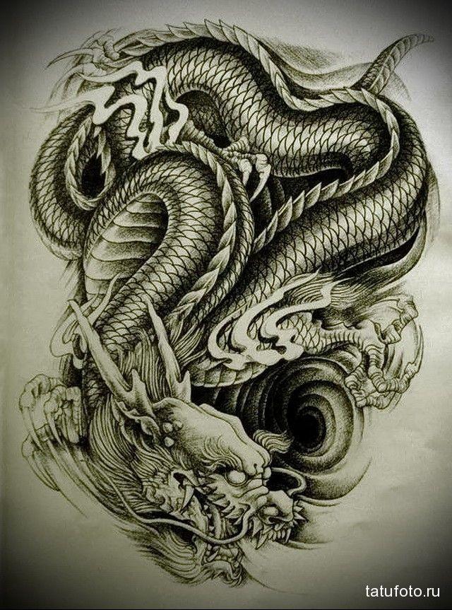 Крутые картинки тату китайский дракон (23)