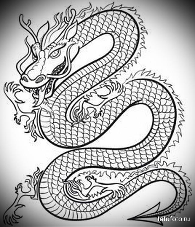 Крутые картинки тату китайский дракон (26)