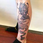 Крутые картинки тату китайский дракон