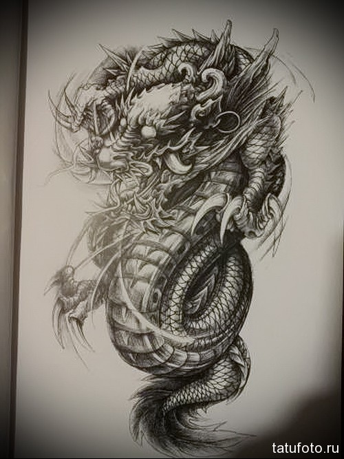 Крутые картинки тату китайский дракон (5)