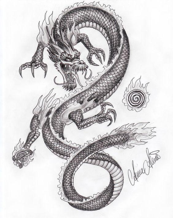 Крутые картинки тату китайский дракон (6)